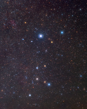 Canis Major constellation, optical image