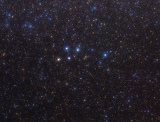 Delphinus constellation, optical image