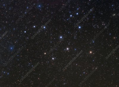 Lepus constellation, optical image