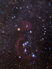 Orion constellation, optical image