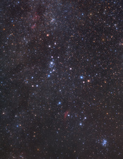 Perseus constellation, optical image