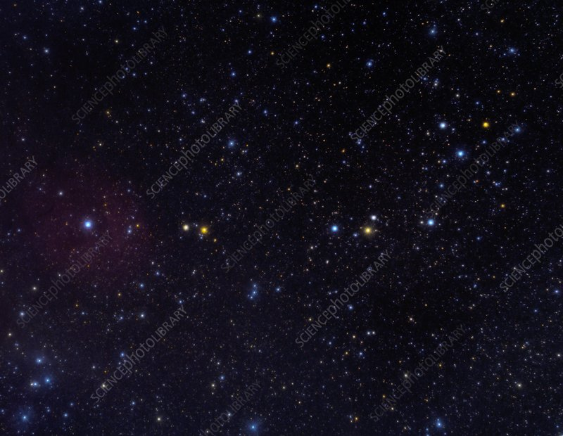 Serpens Caput constellation, optical image