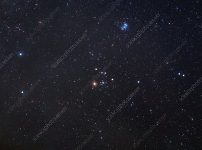 Taurus constellation, optical image