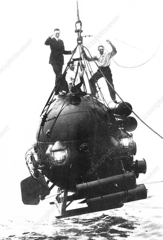 Deep sea diving bell and submersible, 1910s