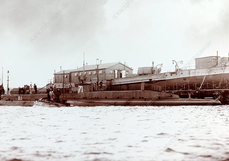 HMS D1 submarine, early 20th century