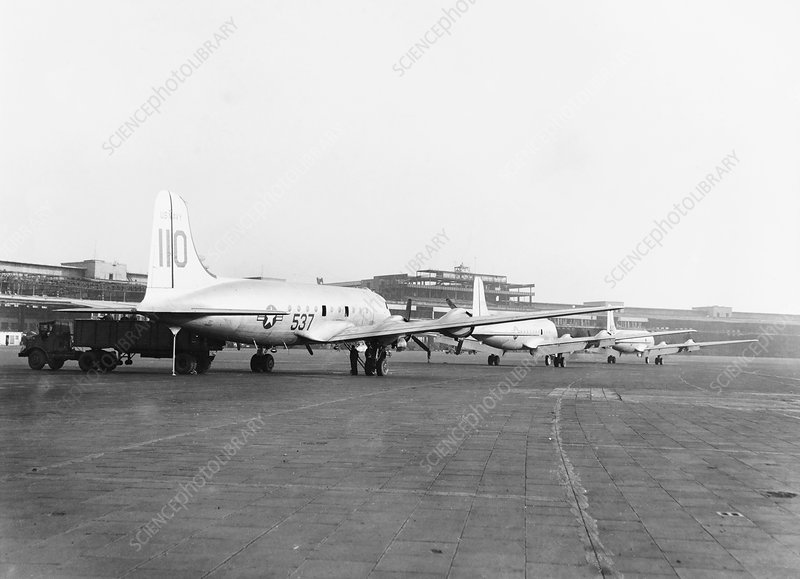 Berlin Airlift cargo aeroplanes, 1949