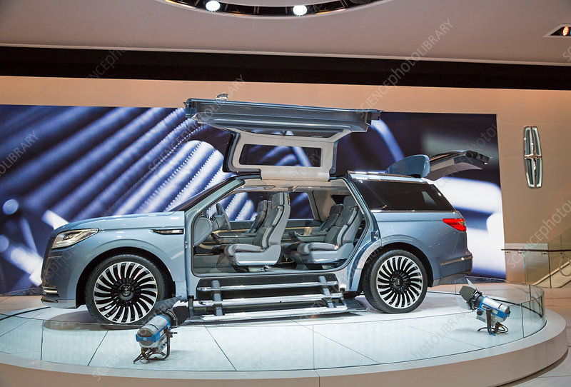 Lincoln Navigator luxury car on display