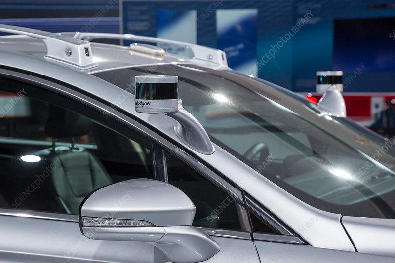 Autonomous vehicle sensors - Stock Image - C036/0881