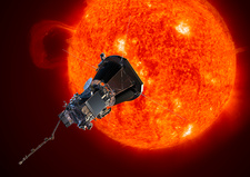 Parker Solar Probe at the Sun, illustration