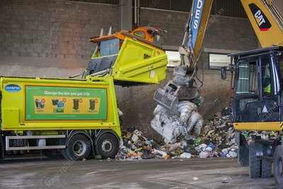Recycling centre, UK