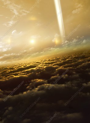 Above the clouds of Saturn, illustration