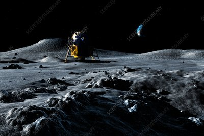 Apollo Lunar Lander, illustration