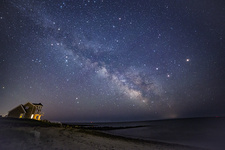 Mars, Saturn and Milky Way over Cape Cod
