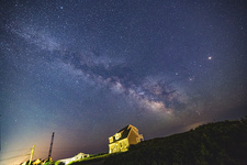 Mars, Saturn, and Milky Way, Wide Angle View