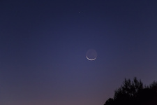 Planet Mercury and Waning Crescent Moon