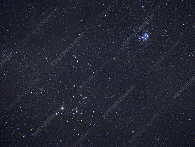 The Pleiades (M45) and Hyades Clusters in Taurus
