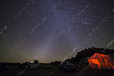 Zodiacal Light and Winter Triangle
