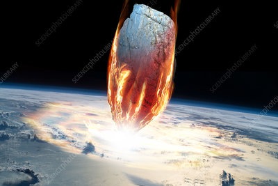 Asteroid Entering Earth's Atmosphere