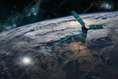 Satellite Firing Energy Weapon at Earth