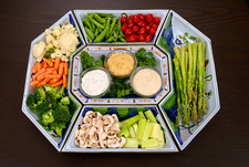 Healthy Food, Vegetable Platter and Dips