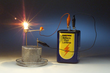Sodium metal conducts electricity