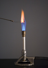Flame Test for Strontium Using Platinum Wire