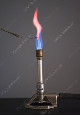 Flame Test for Lithium Using Platinum Wire