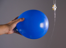 Balloon with Static Charge Bends Water Stream