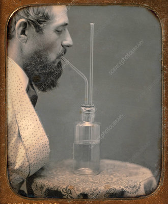 Inhaling Chlorine Gas, 1850s