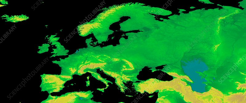 Europe, GLOBE map