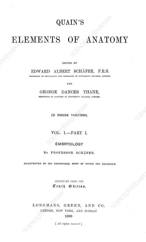 Quain's Elements of Anatomy, Title Page