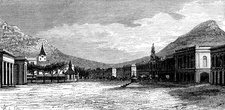 19th Century Cape Town, South Africa, illustration