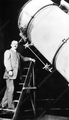 US astronomer Heber Curtis at the Crossley Reflector