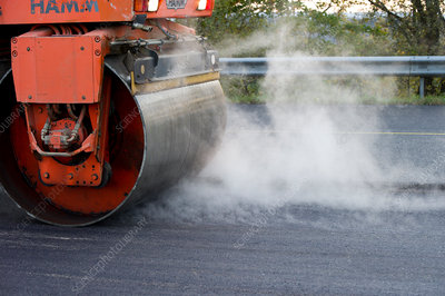 Road-laying roller