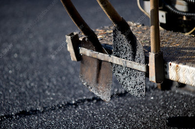 Road-laying shovels
