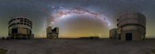 Milky Way over the Very Large Telescope, Chile