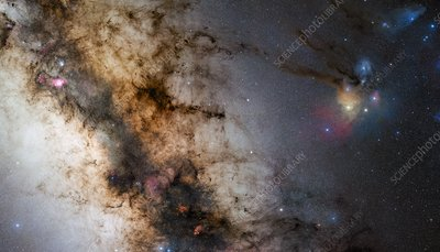 Centre of the Milky Way, optical image