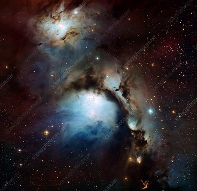 Reflection nebula M78, optical image