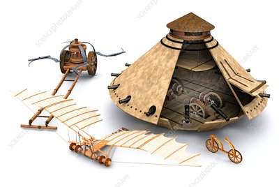 Leonardo da Vinci inventions, illustration