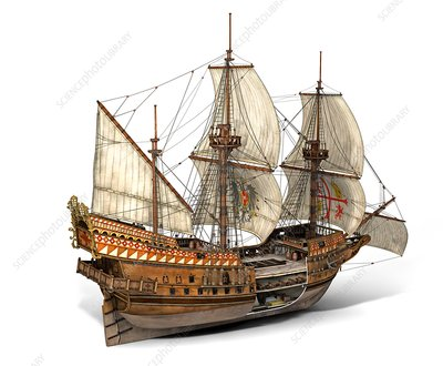 Spanish galleon San Jose, illustration