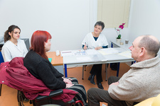 Disabled woman consultation