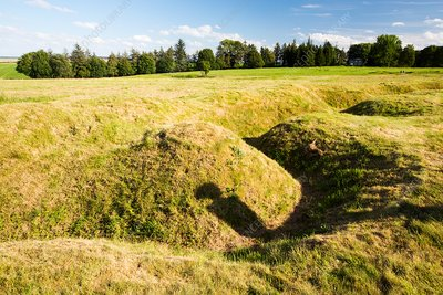 First World War trenches, the Somme, France