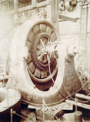 Westinghouse two-phase generator, 1890s