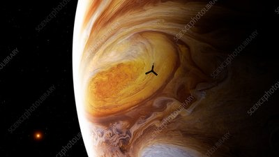 Juno spacecraft at Jupiter