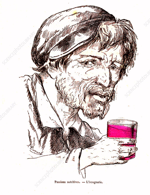 Alcoholic, 19th Century illustration