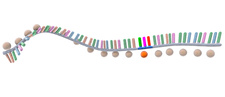 Codon in protein synthesis, illustration