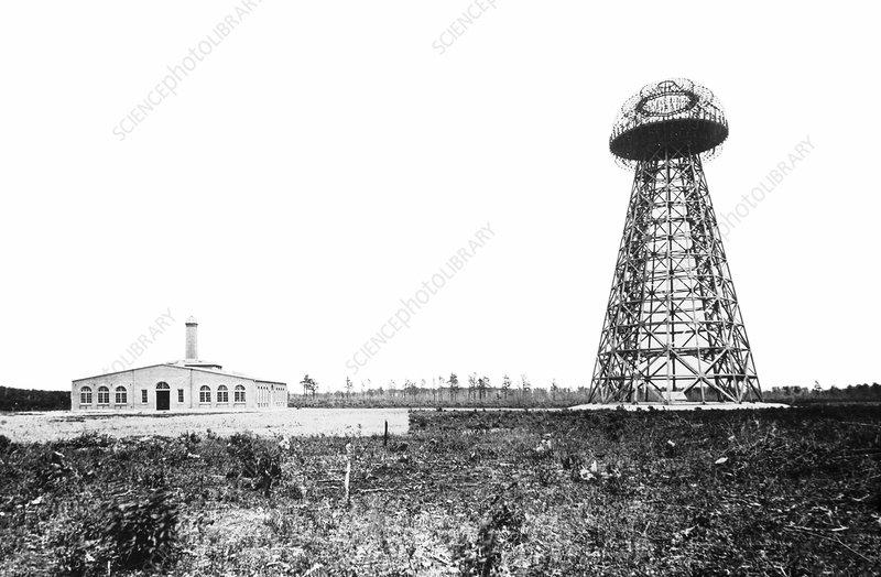 Tesla's Wardenclyffe Tower laboratory, 1900s