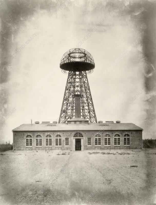 Tesla's Wardenclyffe Tower laboratory, 1900s