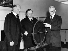 Tesla and induction motor 50th anniversary, 1938