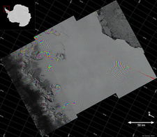 Larsen C ice shelf rift, satellite image
